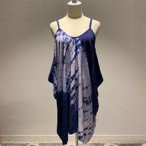 Tie Dye Loose Cover Up Beach Dress